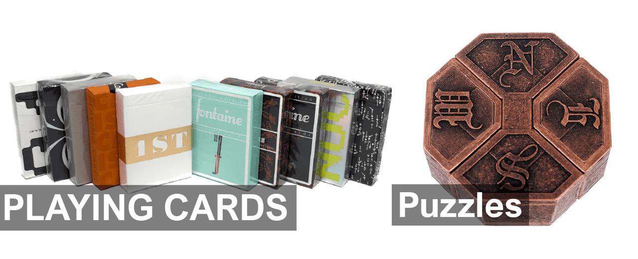 Playing Cards and Puzzles